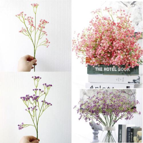 Artificial Fake Baby/'s Breath Gypsophila Silk Flowers Bouquet Home Wedding Decor