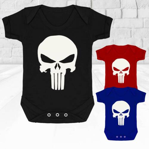 Baby Vest Suit Grow The Punisher