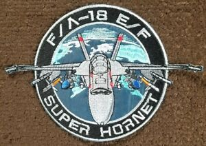 Boeing F/A-18 E/F Super Hornet United States Navy USN Embroidered Patch