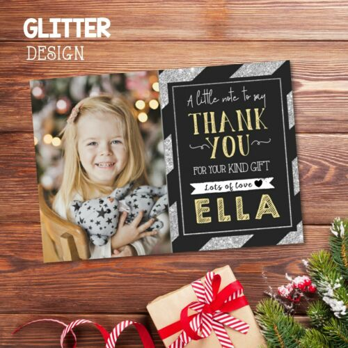 Envelopes 10 x Personalised Christmas Thank You Cards Notes With Photo