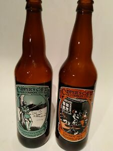 Beer-Bottles-Cooper-039-s-cave-amp-Pathfinder-039-s-porter-empty-11-034