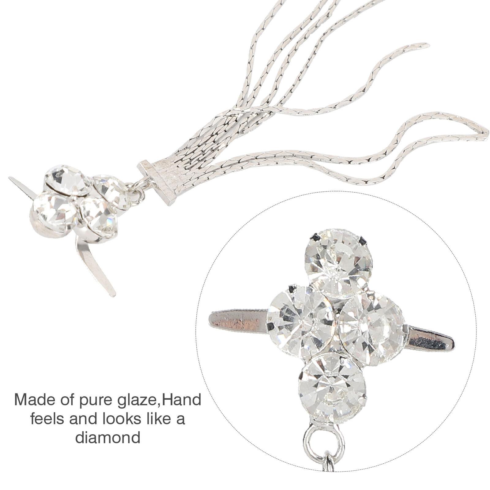 4Pcs Shoe Clips 4 Diamond Tassel Claw Chain Boots Buckle Decoration Accessories