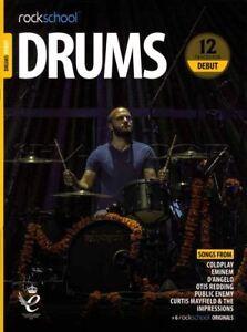 Candide Rockschool Drums Debut 2018-2024 Sheet Music Livre Audio/exercices Tests Chansons-afficher Le Titre D'origine Beau Lustre