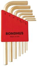 7pcs Plated 14k GoldGuard™ 1.5 - 6mm Short Hex Wrenchs Bondhus USA 38292