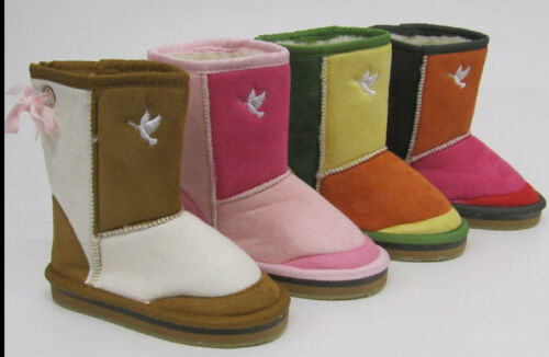 FLpink beige yellow brown Boots LED Flashing Lights Girls Boys CHILDREN/'S SNUGG