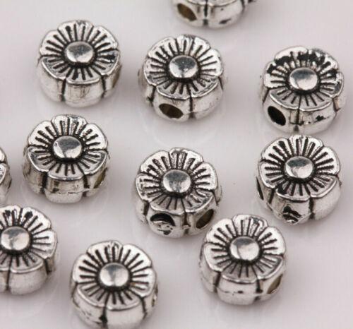 Lots Mixed Tibetan Silver Tube Metal Spacer Beads Jewelry Making DIY Bracelet