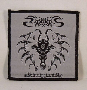 SABBAT-Sabbatrinity-Woven-Small-Patch-grey-black-R-I-P-Records-New