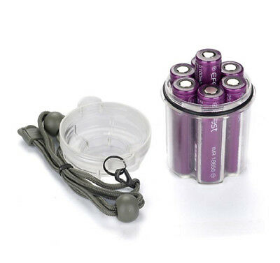 AAA 18650 Cylindrical Plastic Flashlight Black Box For Holder Case Battery UK
