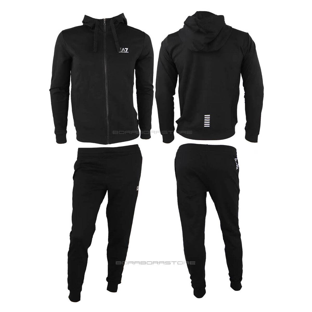 Emporio Armani EA7 Tracksuit pants Sweatshirt Man 8NPV80 PJ05Z black