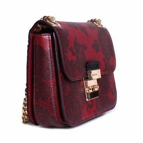 a69347672e5d italy michael kors sloan lace editor medium chain shoulder bag cherry d40a5  d7a95