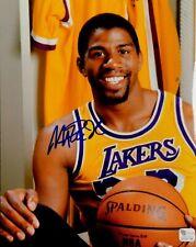 Magic Johnson Signed Autograph 8x10 Photo LA Lakers Portrait GAI COA
