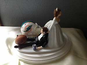 miami dolphin wedding cake toppers miami dolphins cake topper groom wedding day nfl 17330
