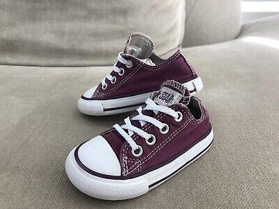 Converse All Star Kids Low Top Shoes 5 US 12.5 cm Sneakers Purple [R3] | eBay
