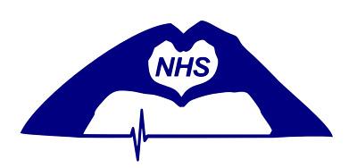 NHS LOVE SUPPORT Charity Modern Car//Van Sticker Nurse Window wall Hospital