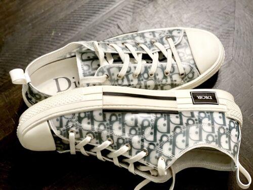 Dior B23 Low Top Sneakers White Black Logo US 11 -