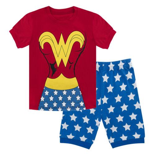Kid Girls Wonder Woman Costume Pajamas Toddler Sleepwear Sets Children Nightwear