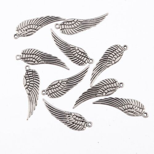 10X Tibetan Silver Wing Bead Charms Ppendant 26*9mm Fit DIY Jewelry Making
