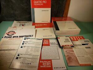 Vintage-Borland-Quattro-Pro-for-Windows-5-25-034-Floppy-Disks-New-Open-Box