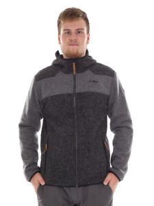 CMP-Functional-Jacket-Cardigan-Woollen-Cardigan-Grey-Pockets-Insulating