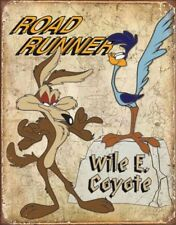 Road Runner & Wyle E Coyote Tin Sign 13 X 16in