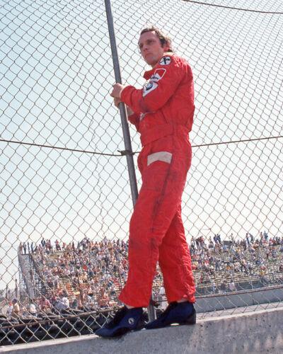 1976 Driver NIKI LAUDA Glossy 8x10 Photo U.S Grand Prix West Poster Ferrari