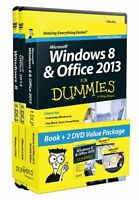 Windows 8 And Office 2013 For Dummies, Book + 2 Dvd Bundle By Andy Rathbone, (pa on Sale