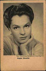 MAGDA-SCHNEIDER-Portraet-Postkarte-Film-Buehne-Kino-Schauspielerin-Actress