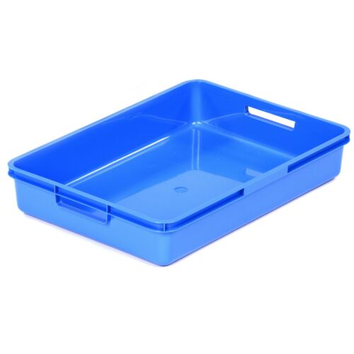 A4 Plastic Storage Tray Various Colours Red Blue Green Yellow Transparent Clear