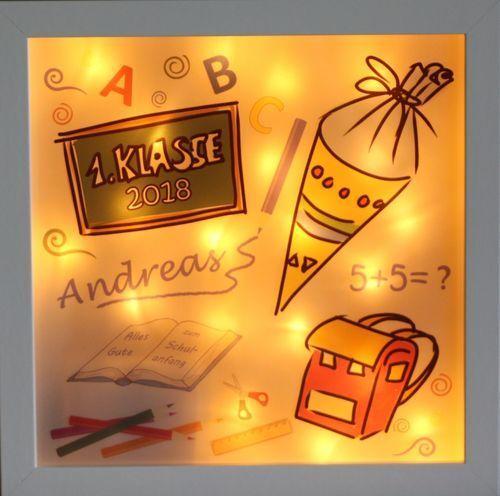 LED-Lampe Schulanfang - personalisiertes Geschenk zur Einschulung - Nachtlicht | Deutschland Online Shop  | Realistisch  | Sehr gute Farbe