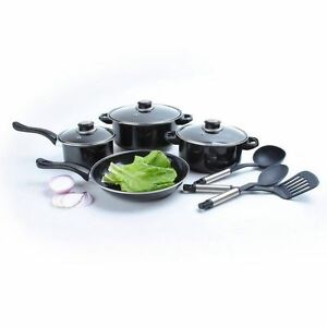 10 pc non stick cookware set great first kitchen camping for First kitchen set