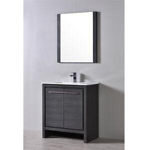 Blossom 30 Milan Single Sink Bathroom Vanity In Silver Grey Ebay