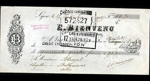 LYON-69-USINE-de-CREPES-BRASSARDS-amp-FOURNITURE-pour-CHAPEAU-034-E-BIENVENU-034-1925