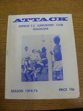 1974/1975 Enfield partidarios Club Revista Vol: 5 no: 8 (luz marcas sucio T).