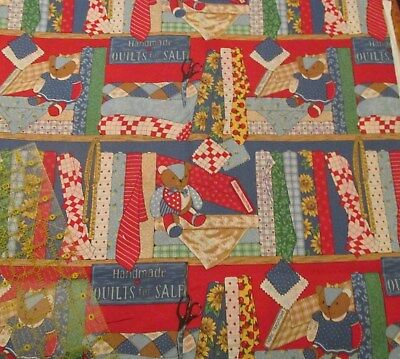 """Small Print on Orange Quilting Cotton Fabric Traditions M1711 44/"""" By 1//2 Yd"""