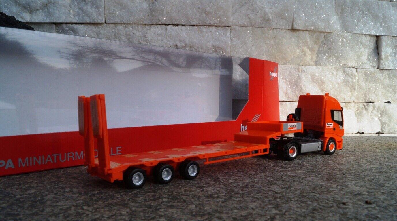 Herpa Iveco Stralis XP XP XP profundo de carga-remolcarse  Boels Rental  (NL) OVP 1 87 4405e7