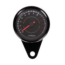 12V Universal Motorrad LED Tachometer Kilometerzähler Speedometer Drehzahlmesser