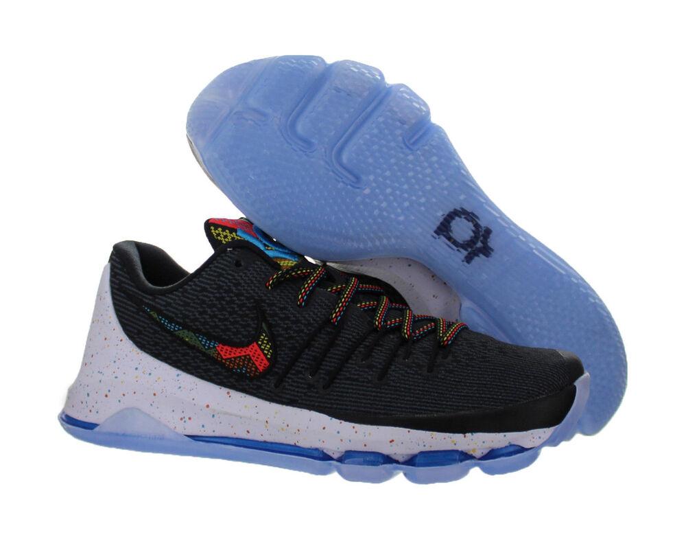NOUVEAU NIKE Men KD 8 MONTH BHM Chaussures Noir HISTORY MONTH 8 Noir / Multi Colors 824420-090 Chaussures de sport pour hommes et femmes 71e077