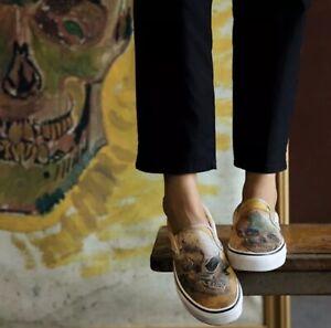 Vans Shoes Vincent Van Gogh Classic Slip On Skull Men S Size 3 5 Ebay