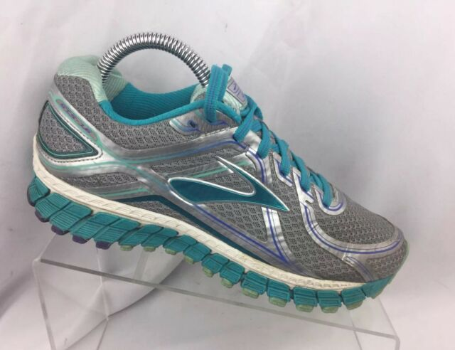 Brooks Adrenaline GTS 16 1202031D170 Silver Teal Blue Running Shoes Sz 7.5 D c9b57b013