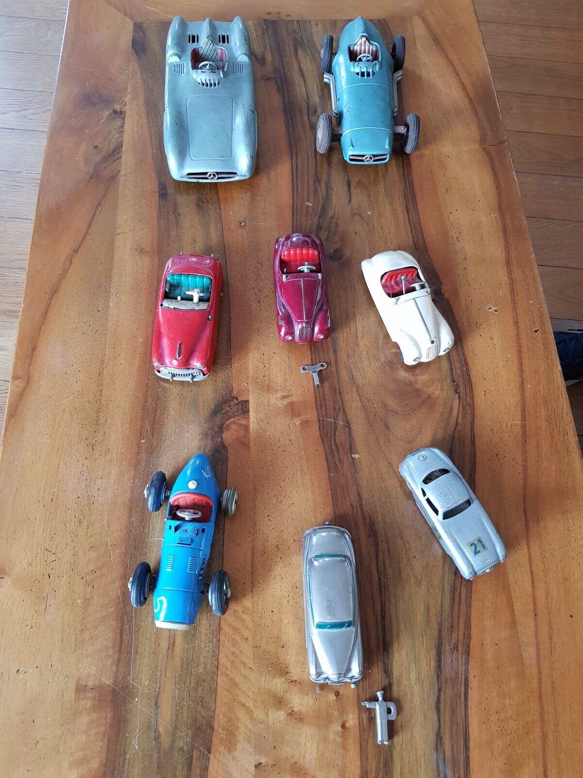 Lots de 8 voitures miniatures (4schuco, 1autodux, 1prameta, 2mercedes  friction)  livraison éclair