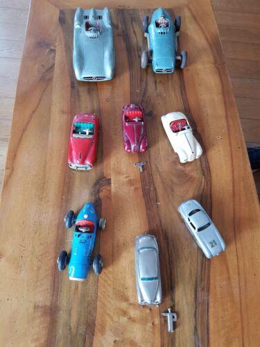 Lots De 8 Voitures Miniatures (4schuco, 1autodux, 1prameta, 2mercedes Friction)