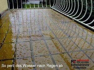 Top Balkon- Terrassefliesen Abdichtung Fliesendicht Fliesen farblos SJ63