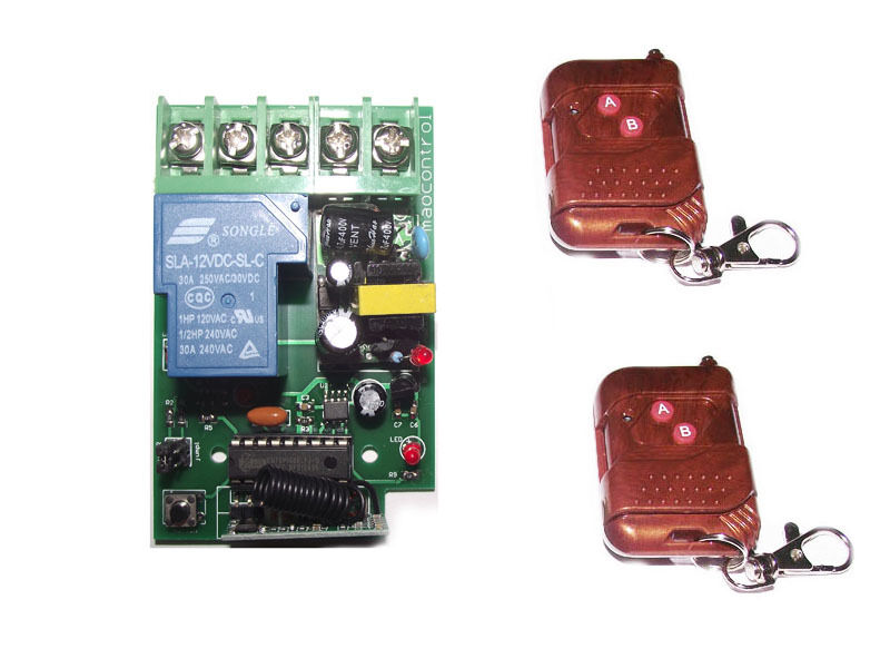 30AMP High power  AC110V-220V RF Radio Remote Control Switch Relay MOTOR