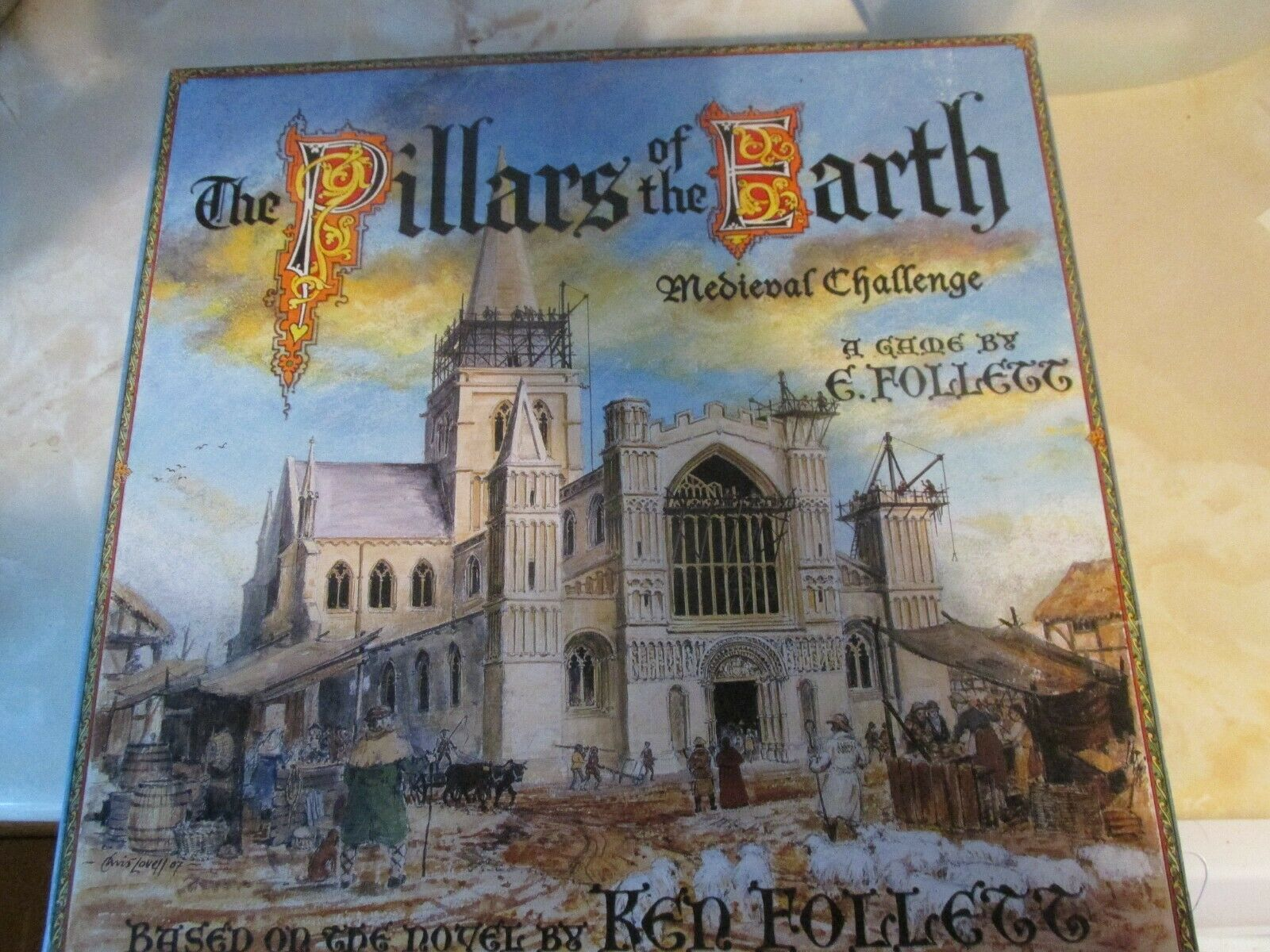 The Pillars Of The Earth Medieval Challenge Board Game Ken Follett Sealed Cards