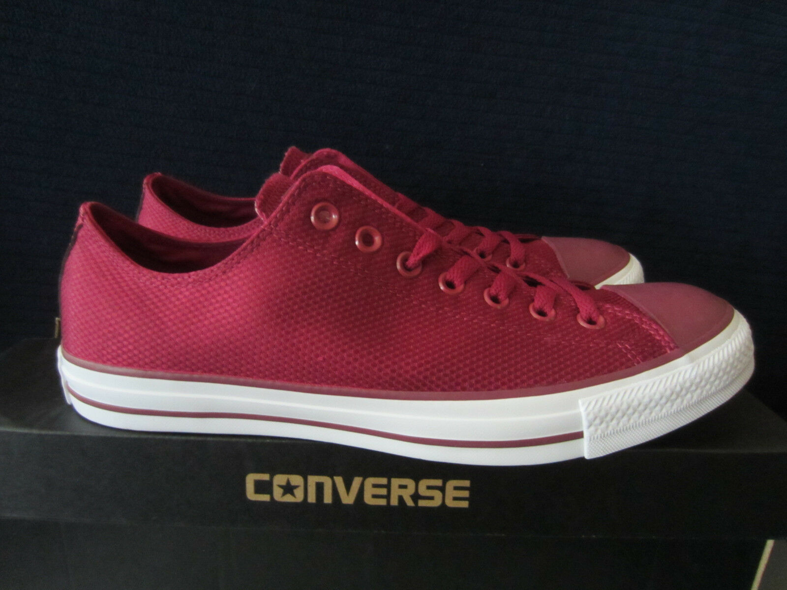 CONVERSE Chuck Taylor All Star OX 155420C Sneakers Bordeaux Gr.44,5, 45 NEU OVP!