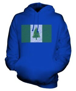 Islands Griffonnage Norfolk Football Capuche À Unisexe Haut Cadeau Drapeau Sweat vRddwxT