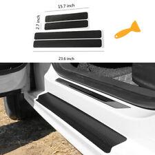 Car Accessories Carbon Fiber Stickers Door Sill Protector For Suv Sedan Parts Fits Isuzu