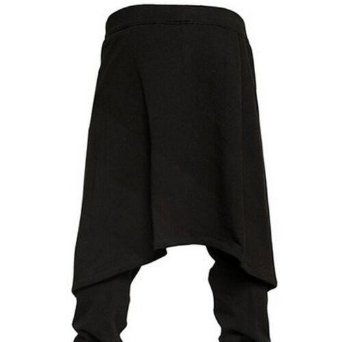 Mens Black Bondage Baggy Skater Trousers Pants Goth Punk Emo Gothic Plus Size WS