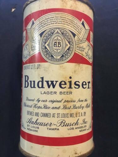 Vintage Budweiser Flat Top Beer Can