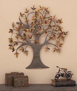 Image Is Loading Metal Wall Art Tree Of Life Leaves Dream
